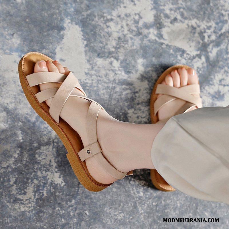 Naisten Sandaalit Pehmeä Pohja Tasainen Kesä Rooma Nainen